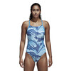 adidas Fit One Piece AOPPAR Swimsuit Women brblue/sefrye